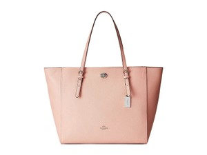 Coach Leather Turnlock Tote in BLUSH