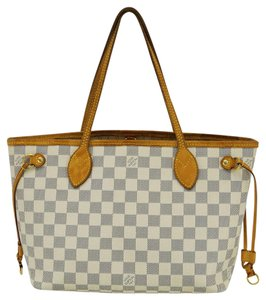 Louis Vuitton Lv Neverfull Pm Damier Azur Tote Handbag Shoulder Bag
