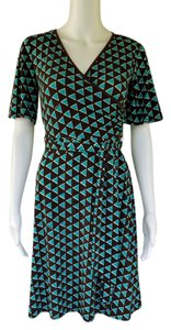 Donna Morgan short dress Brown, Turquoise Slinky Petite Pull-on on Tradesy