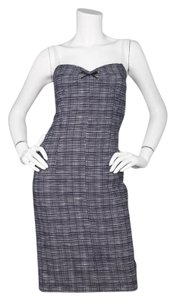 Miu Miu short dress Navy and white Plaid Spaghetti Strap Sheath Sweetheart on Tradesy