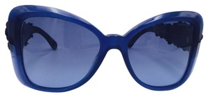 Chanel Chanel Blue Butterfly Camelia Flowers Sunglasses 5317-Q c.1509/S2 56