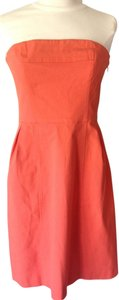 Theory short dress orange Strapless Summer Fitted Sexy on Tradesy