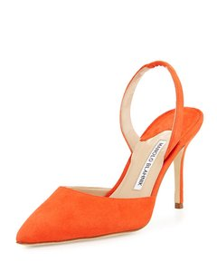 Manolo Blahnik Orange Pumps
