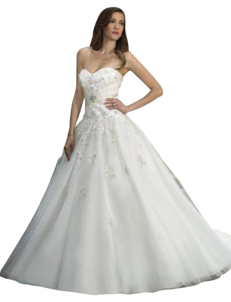 Moonlight Bridal Ivory / Gold 1182 Wedding Dress Size 8 (M) - Tradesy