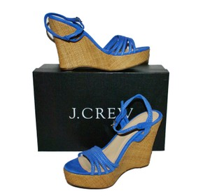 J.Crew Sandal blue Wedges