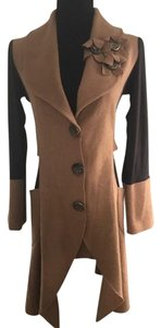 insight Coat Long Boiled Wool Snap Button Polyester Sweater