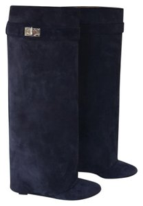 Givenchy Blue Suede Boots