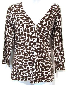 Chico's Sweater Casual Printed Cardigan