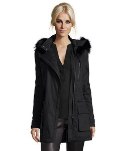 Vince Coyote Fur Quilted Coat