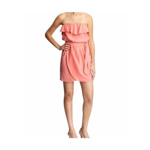 Amanda Uprichard short dress Peach on Tradesy