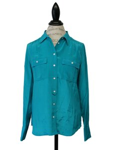 J.Crew Career Work Suitingshirt Top retro jade
