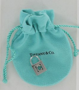 Tiffany & Co. Tiffany & Co. 925 Silver Initial Alphabet Letter C Padlock charm pouch