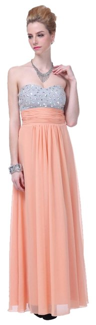 Preload https://item1.tradesy.com/images/peach-crystal-bodice-and-amp-tie-open-long-formal-dress-size-2-xs-2106300-0-0.jpg?width=400&height=650