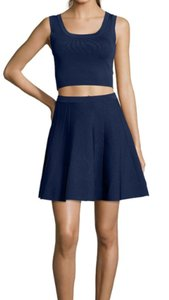 Wyatt short dress Navy New Wedding Guest Stretch Knit Two-piece Crop on Tradesy