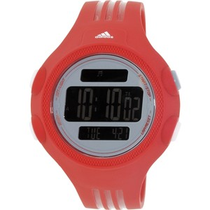 adidas ADP3134 Questra Men's Red Rubber Bracelet With 54mm Digital Watch