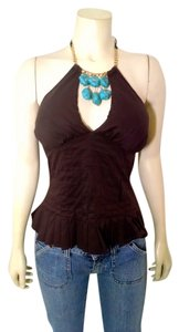bebe Size Small Brown brown, turquoise Halter Top