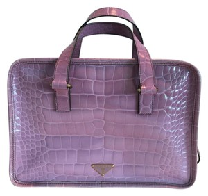 Prada Handle Leather Bauletto Satchel in Pink