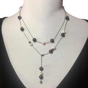 Other Pearl and sterling silver double strand necklace