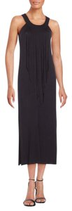 Black Maxi Dress by Kensie Maxi Party Fringe Bohemian Hippie