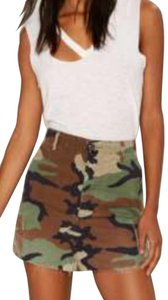 Nasty Gal A-line Summer Mini Military Mini Skirt Camouflage