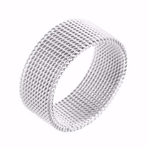 Stainless Steel Mens Ring Wedding Engagement Band 14k White Finish