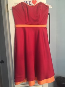 Alfred Angelo Pink And Orange Alfred Angelo Satin Dress Dress