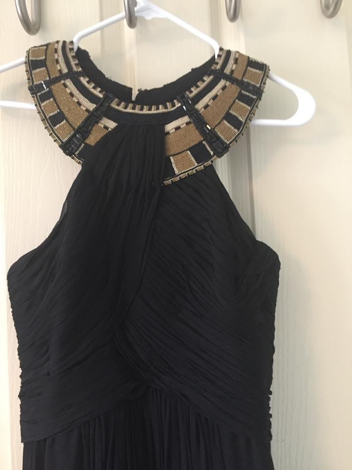 Cleo Black With Gold Collar Long Formal Dress Size 4 S Tradesy