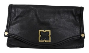BCBGMAXAZRIA Fold Over Fold Over Black Clutch