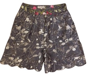 Opening Ceremony Silk Floral Scalloped Shorts Floral Print