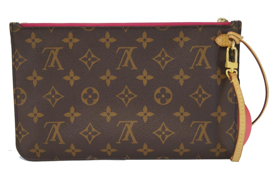 Louis Vuitton Pochette Neverfull Mm Gm Monogram Wristlet Clutch
