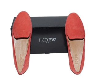J.Crew Suede Loafers Orange Flats