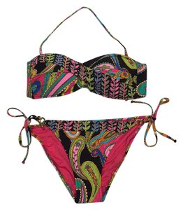 Trina Turk NWT Trina Turk Multicolored Bikini Top And Bottom Swimsuit Set Size 8