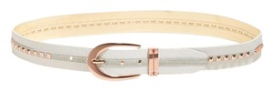 Guess NEW GUESS studded beige leather belt Size L