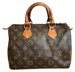 Louis Vuitton Canvas Speedy 25 Satchel in Brown