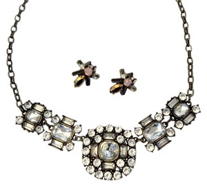 J.Crew Pretty Rhinestone Statement Necklace And Earrings