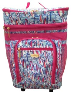 Lilly Pulitzer Red Blue Travel Bag