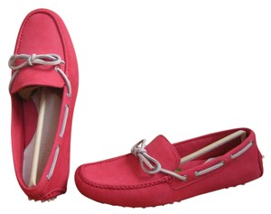 Cole Haan Driver Driving Loafer Boat Preppy Red Flats