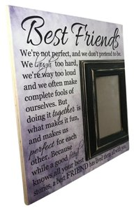 Bride Maid Of Honor Gift Picture Frame Best Friends