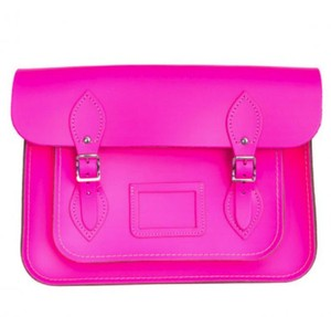 The Cambridge Satchel Company Bold Bright Satchel in Neon Hot Pink