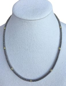 Lagos Lagos Caviar Beaded Rope Necklace - 18k & Sterling Silver 16