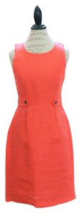 J.Crew short dress bright papaya on Tradesy