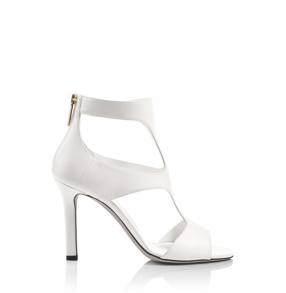 9a5a0c30f0f Tamara Mellon Cream Party Cut-out 90mm Heels Boots/Booties Size US ...