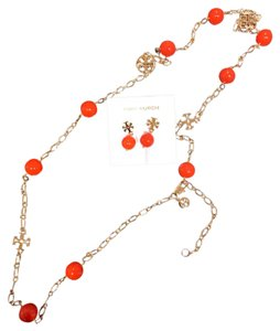 Tory Burch colorful necklaces and earrings