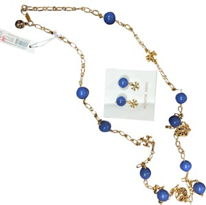 Tory Burch colorful erring and necklace