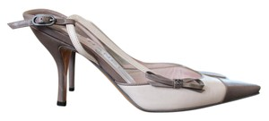 Chanel Sandals Heels Beige and Taupe Pumps
