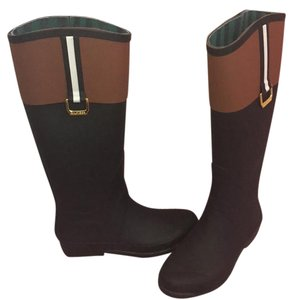 Tommy Hilfiger Black and Brown Boots