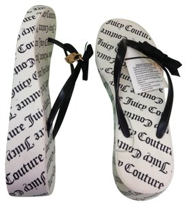 Juicy Couture Black/White Sandals