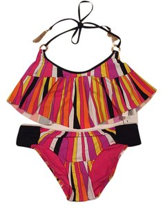Trina Turk NWT Trina Turk Multicolored Bikini Top And Bottom Swimsuit Set Size 6