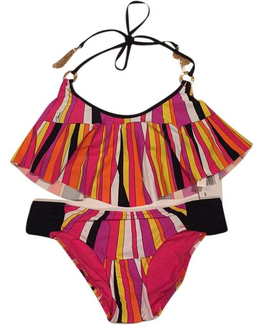 Trina Turk NWT Trina Turk Multicolored Bikini Top And Bottom Swimsuit Set Size 6 Image 0