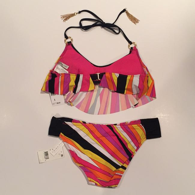 Trina Turk NWT Trina Turk Multicolored Bikini Top And Bottom Swimsuit Set Size 6 Image 3